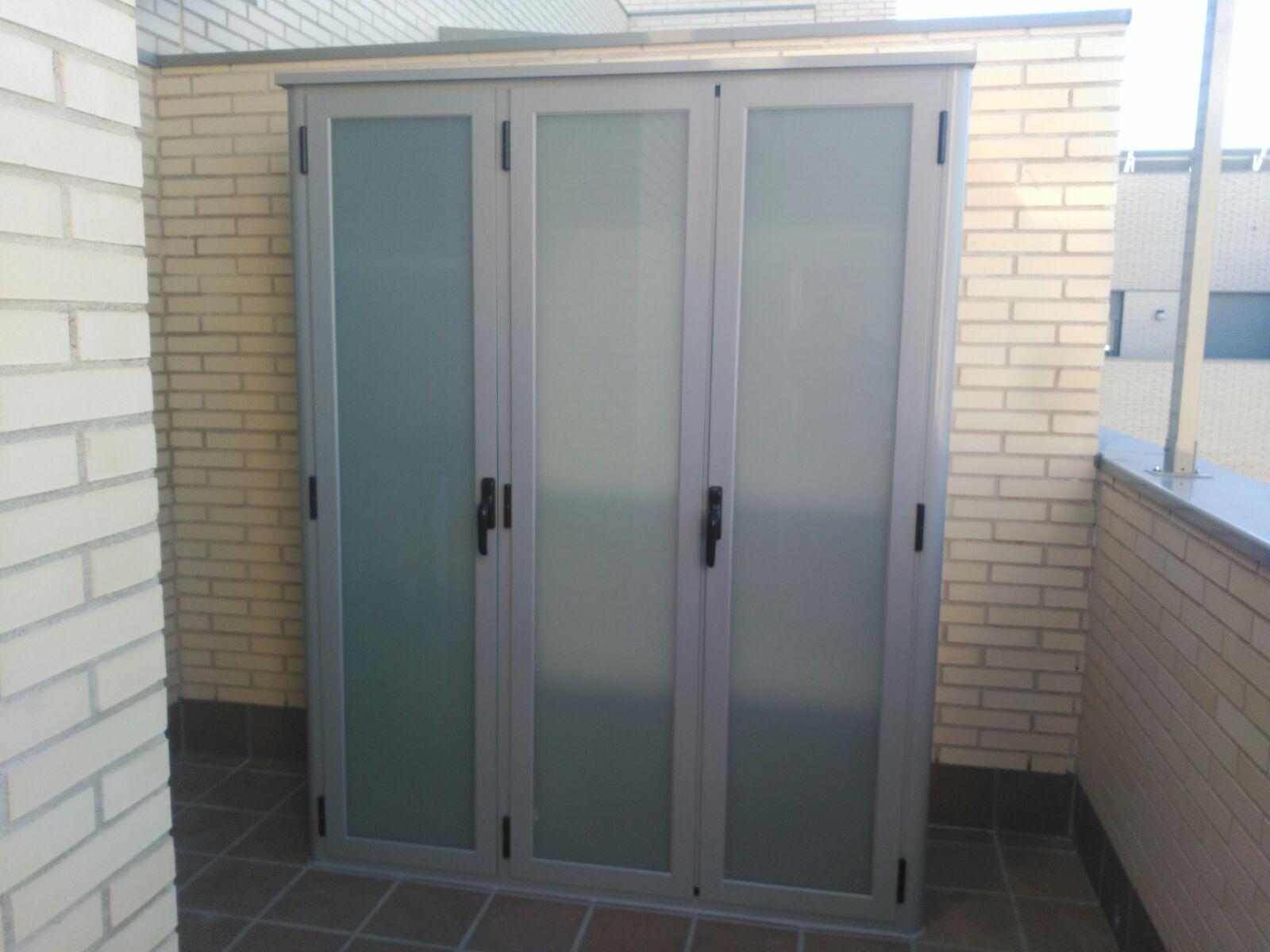 Soluciones para armarios de exterior de aluminio o pvc en madrid - Armarios terraza resina ...