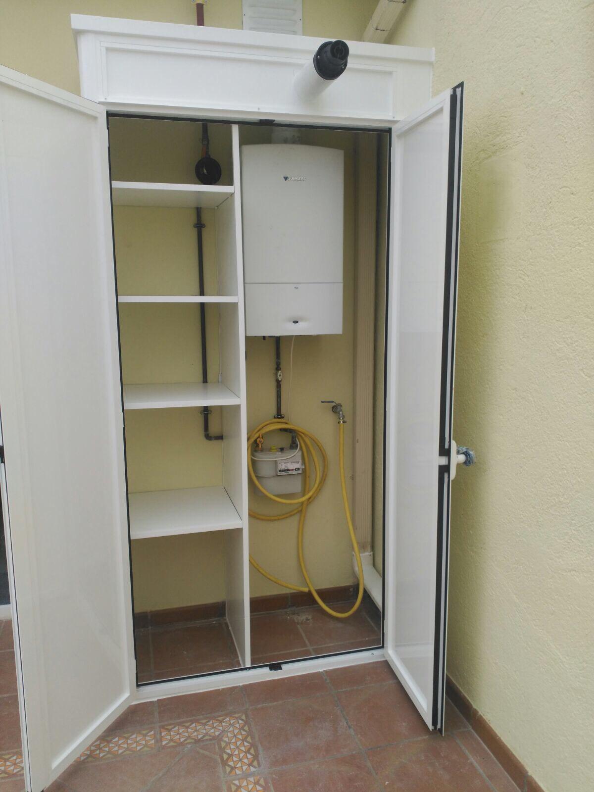 Soluciones para armarios de exterior de aluminio o pvc en madrid - Armario para caldera exterior ...