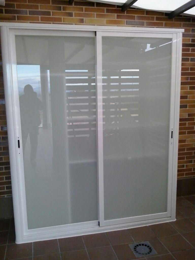 Frente de armario corredera de dos hojas aluminios - Frente armario corredera ...